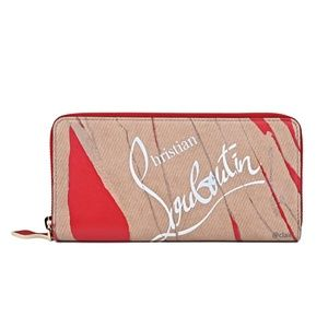 Christian Louboutin Panettone Print Leather Wallet